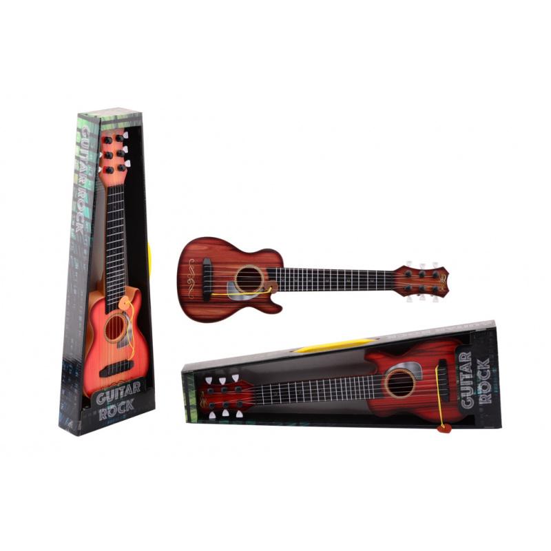 Kytara rocková s 6 kovovými strunami 45 cm