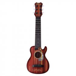 Gitara rocková s 6 kovovými strunami 45 cm