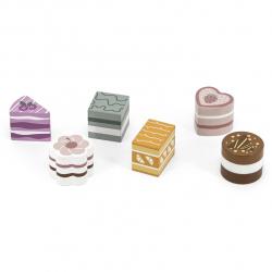 Dřevěné dortíky 6 ks