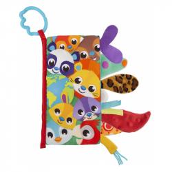 Playgro Textilná knižka so zvieracími chvostíky