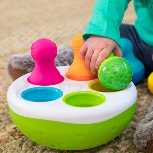 Fat Brain rolly-polly s kuželkami a míčky SpinnyPins