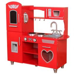 Dřevěná kuchyňka s efekty 84x31x89 cm