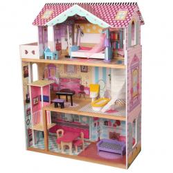 Domček pre bábiky drevený 82x30x110 cm
