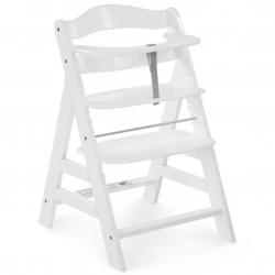 Rosnące krzesełko Alpha +  łącznie z pasami bezpieczeństwa white