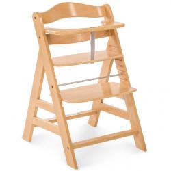 Rosnące krzesełko Alpha +  łącznie z pasami bezpieczeństwa naturalne