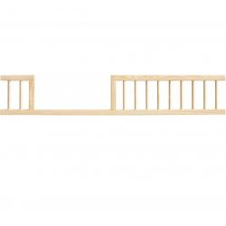 Barierka zabezpieczająca do łóżeczka 140 cm - naturalna