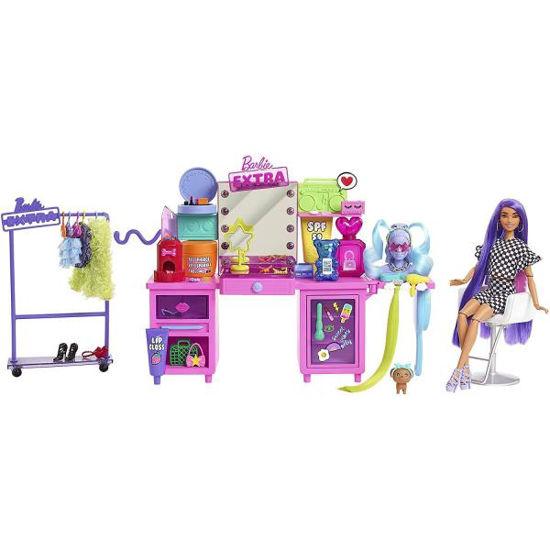 Barbie Extra šatník s panenkou - herní set
