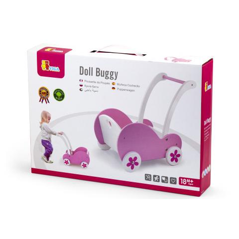 Drevený kočík pre bábiky