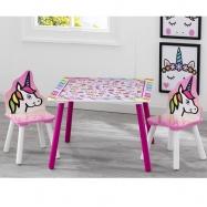 Dětský stůl s židlemi Jednorožec