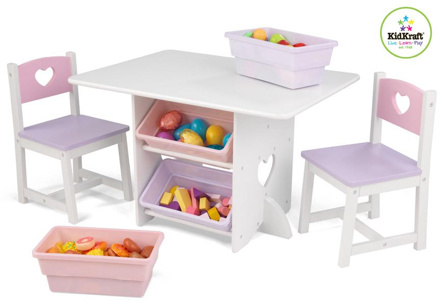 4d5de3272f36c KidKraft detský stôl Heart s dvoma stoličkami a boxy
