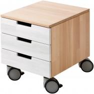 Pojazdný kontajner Haba Anderson 301229 s bielymi zásuvkami