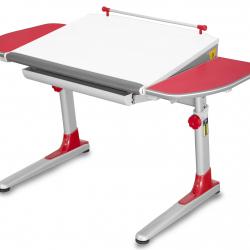 Rosnące biurko Young College Profi biało czerwony