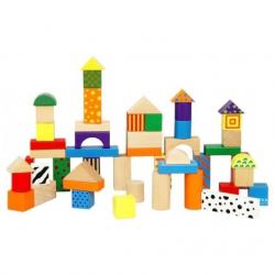 Dřevěná stavebnice 50 kostek