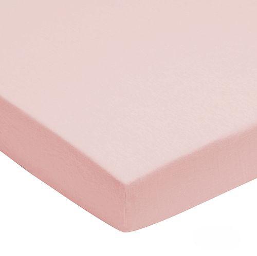 Prostěradlo jersay Jollein 120 x 60 cm světle růžová