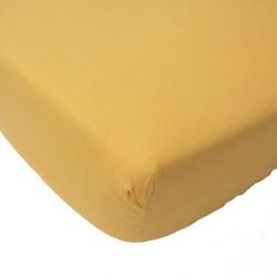 Prostěradlo froté Jollein 120 x 60 cm žlutá