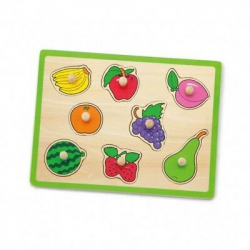 Drevená vkladačka - ovocie