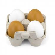 Drevená vajíčka 4 ks
