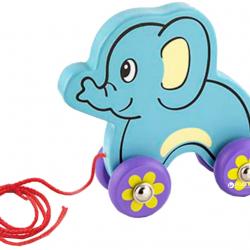 Drevená ťahačka - slon
