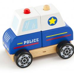 Dřevěná skládačka - policie