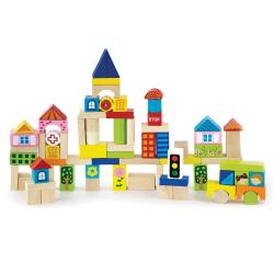 Dřevěná stavebnice 75 kostek - město