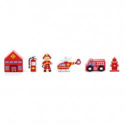 Dřevěné hasičské figurky