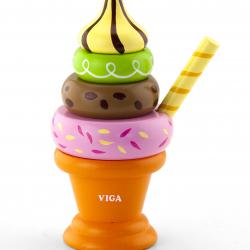 Dřevěná skládačka - zmrzlina