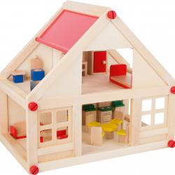 Obytný dom pre bábiky vrátane nábytku