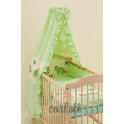 Komplet 4 cześciowy do łóżeczka Jurek - zielony