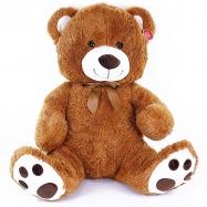 veľký plyšový medveď Riki sediaci 65 cm hnedý - mohutná veľkosť