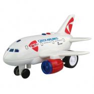 Letadlo ČSA s hlášením kapitána