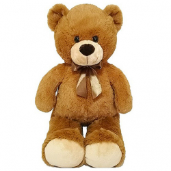 Medveď plyšový 80cm s mašľou 0m + v sáčku