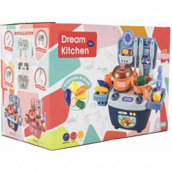 Kuchyňka s doplňky 14ks plast v krabici 25x18x15cm