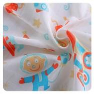 Bawełniane ręczniki dla dzieci TETRA KIKKO 90x100 cm 2szt Chłopiec