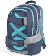 Študentský batoh OXY Sport BLUE LINE Tyrkys 7-72518 4bae432b48