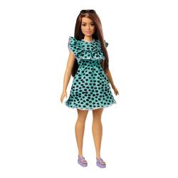 Barbie Modelka - šaty s bodkami