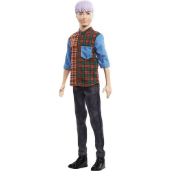 Barbie Model Ken - fialové vlasy
