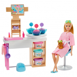 Barbie Salón krásy herný set s beloškou