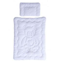 Zestaw do łóżeczka kołderka i poduszka Miś 100 x 135 cm