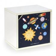 Halmar AERO-SPACE polička zavírací bílá - vesmír