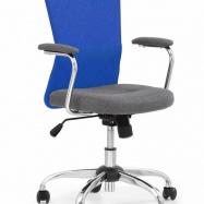 Detská otočná stolička ANDY modro-šedá