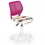 Halmar Dětská otočná židle BALI růžová