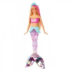 Barbie Dreamtopia. GFL82 Magiczna Syrenka z falującym i świecącym ogonem