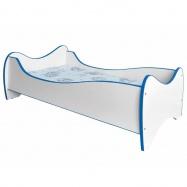 Halmar Dětská postel DUO, bílá/modrá