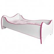 Halmar Dětská postel DUO, bílá-růžová