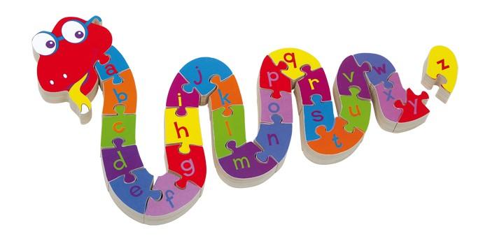 Puzzle Hadí abeceda