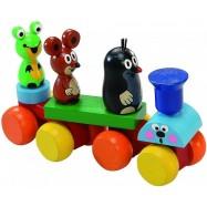 DETOA Krecik - drewniany pociąg