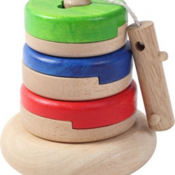 Dřevěné puzzle na tyčce