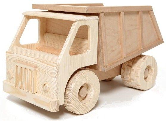 Dřevěné auto se sklápěčkou