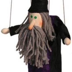 Marionetka drewniana Czarodziej
