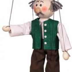 Marionetka drewniana Dziadek
